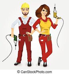 ドリル, handywoman, 保有物, handyman