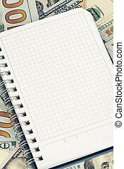 ドル, コピー, メモ用紙, スペース