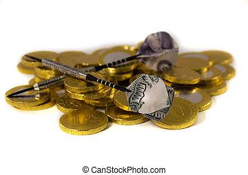 ドル, ユーロ, さっと動く, 目標とすること, 100