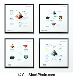 ドロー, ピラミッド, infographic, デザイン, 矢の設計