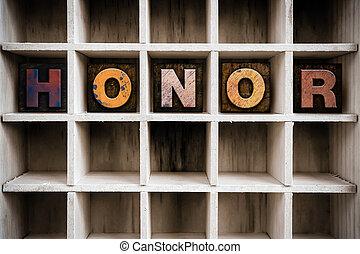 ドロー, 概念, 凸版印刷, 木製である, タイプ, 名誉