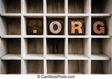 ドロー, 概念, 凸版印刷, 木製である, org, タイプ, 点