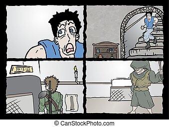 ドロー, 漫画, ページ