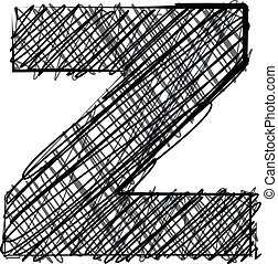 ドロー, z, font., 手紙, 手