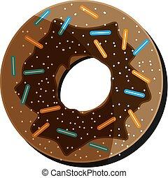 ドーナツ, 休日, 水分が多い, チョコレート