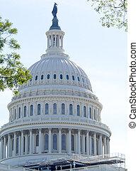ドーム, の, ∥, 合衆国州議事堂, 建物, 中に, washington d.c.