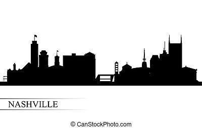 ナッシュビル, 都市 スカイライン, シルエット, 背景