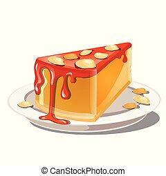 ナット, レシピ, ぼろぼろに崩れなさい, 味が良い, close-up., スライス, 隔離された, バックグラウンド。, 本, 白い赤, カボチャ, トッピング, チーズケーキ, イラスト, 食品。, シリアル, 漫画, 健康, ベクトル, プディング, ∥あるいは∥