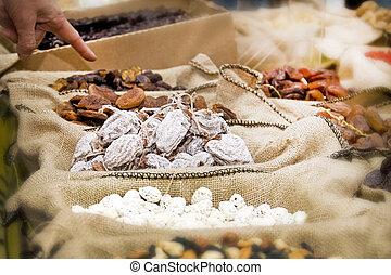 ナット, 乾かされた, 市場, 成果