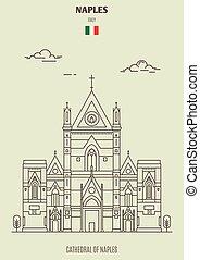 ナポリ, gennaro), 大聖堂, italy., ランドマーク, (san, アイコン