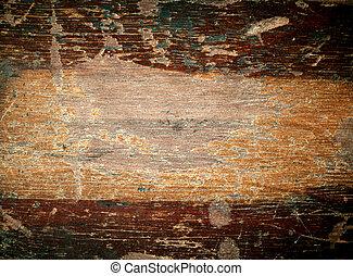 ニス, 古い, スペース, text., 手ざわり, 木