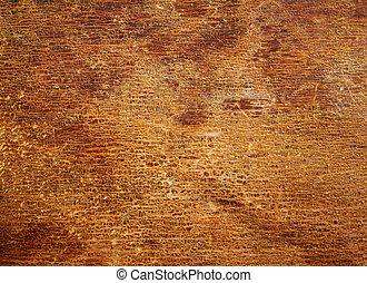 ニス, 古い, 手ざわり, 木, 割れた, surface.