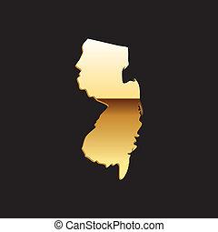 ニュージャージー, 金, 地図