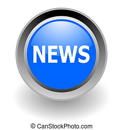 ニュース, アイコン, 鋼鉄, glosssy