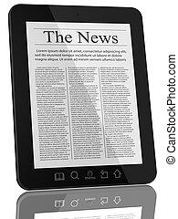 ニュース, コンピュータ, タブレット