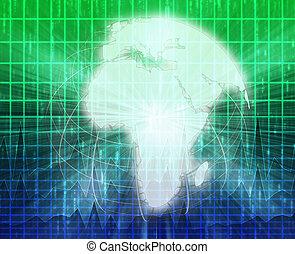 ニュース, スクリーン, はね返し, アフリカ