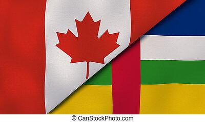 ニュース, 中央カナダ, reportage, ビジネス 実例, バックグラウンド。, 旗, republic., 3d, アフリカ