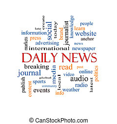 ニュース, 概念, 単語, 毎日, 雲