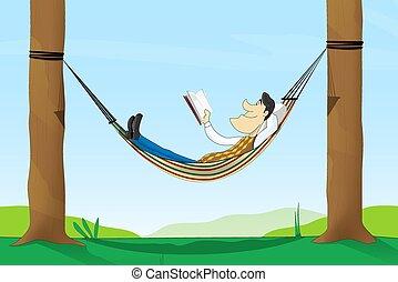 ニュース, 読書, 公園, 人