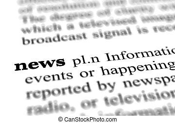 ニュース, 辞書, 単語, ぐっと近づいて