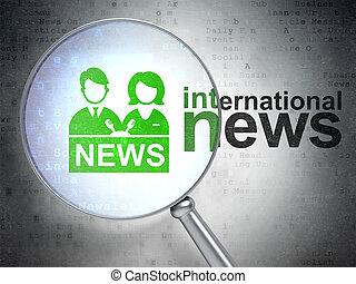 ニュース, concept:, アンカーマン, そして, インターナショナル, ニュース, ∥で∥, 光学, ガラス