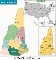 ニューハンプシャーの地図