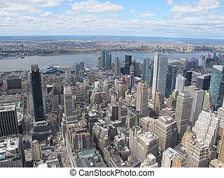 ニューヨークシティのスカイライン
