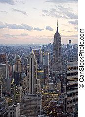 ニューヨーク市, 超高層ビル, ∥において∥, 日没
