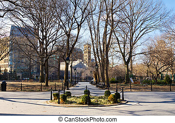 ニューヨーク市, -, washington の正方形の公園