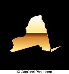 ニューヨーク, 金, 地図