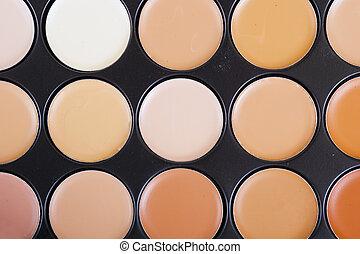 ヌード, 装飾用である, concealers, 化粧品, closeup.set, makeup.