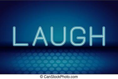 ネオン, 広告, 笑い