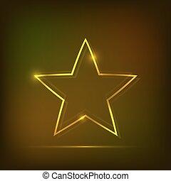 ネオン, 抽象的, 星, 背景