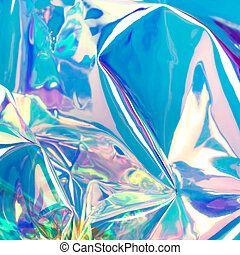 ネオン, 白熱, 青, ぼやけ, バックグラウンド。, 未来派, hologram.