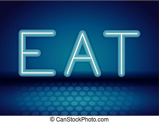 ネオン, 食べなさい, 広告