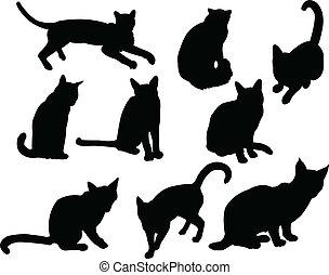 ネコ, ベクトル, -