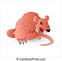ネズミ, ベクトル, 恐ろしい