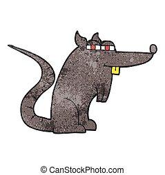 ネズミ, 漫画, 悪, textured