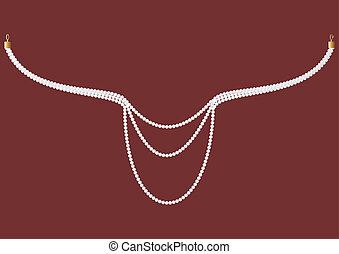 ネックレス, pearls.