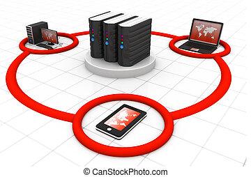 ネットワーク, インターネット, コミュニケーション, 技術