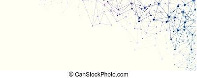 ネットワーク, カラフルである, コミュニケーション, 世界的である, mesh., 社会, 横, 旗