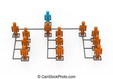 ネットワーク, ビジネス, リーダー