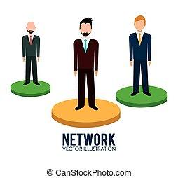 ネットワーク, ビジネス 人々