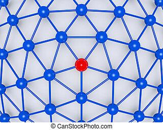 ネットワーク, 中心, リーダー