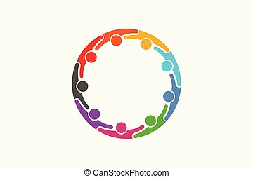 ネットワーク, 人々, 媒体, -, 人, 9, 社会, ロゴ