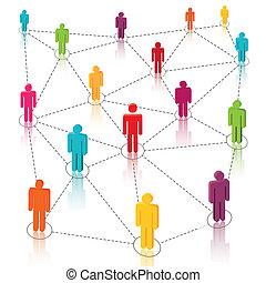 ネットワーク, 媒体, 社会