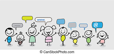 ネットワーク, 子供, 社会