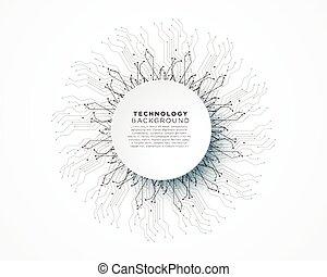ネットワーク, 抽象的, ライン, ベクトル, 背景, デジタルの技術