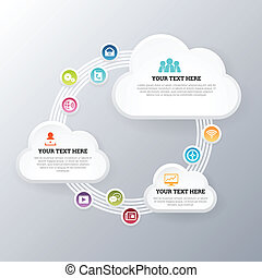 ネットワーク, 雲, 交換