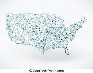 ネットワーク, 電気通信, 抽象的